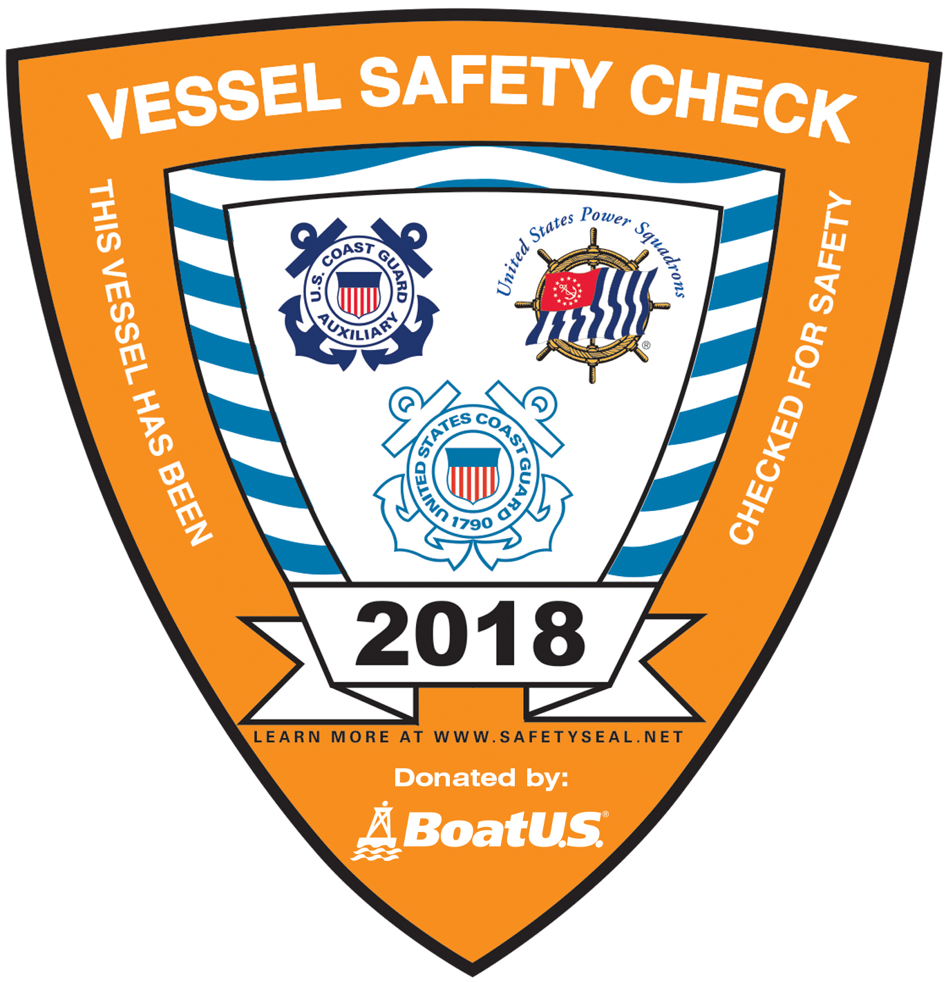 2018 Vessel Safety Check Sticker